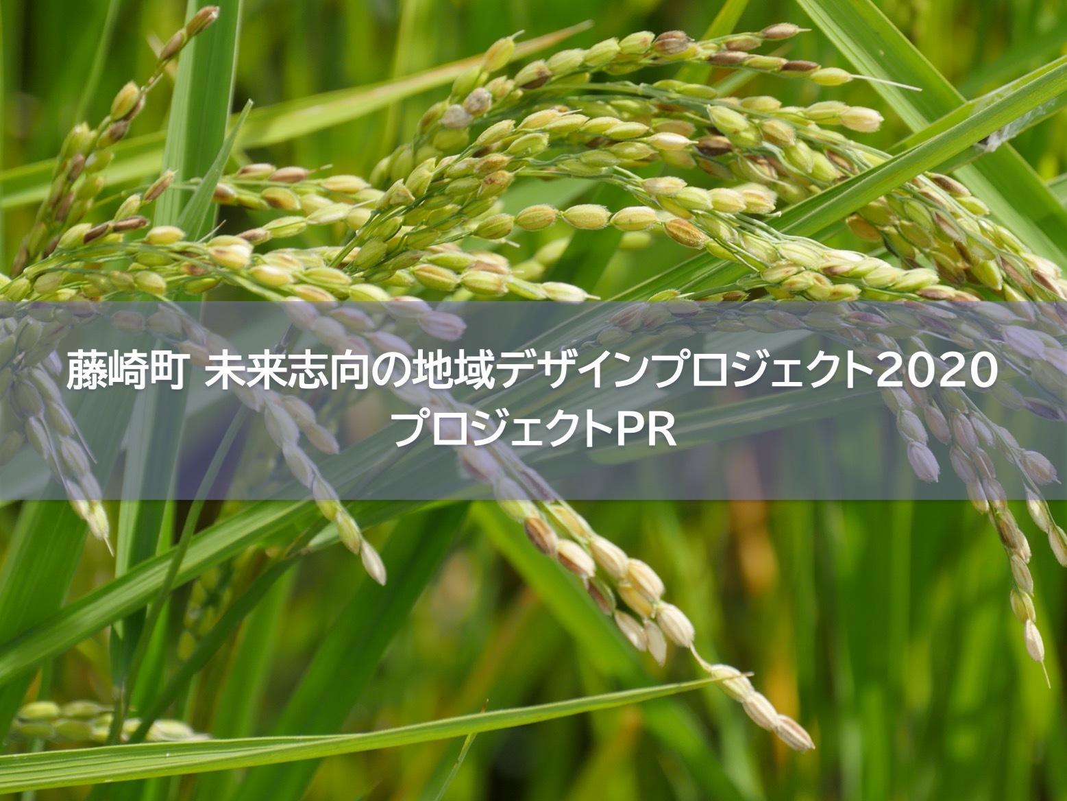 【藤崎町 未来志向の地域デザインプロジェクト 2020】プロジェクトPR クラウドファンディング